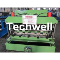 China Automatical Roof Glazed Tile Roll Forming Machine Metal with PANASONIC PLC Computer Control to Italy on sale