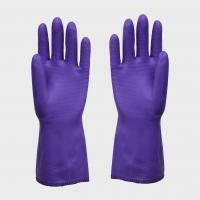 Quality Purple Vinyl Insulated PVC Gloves Large For Man With Beaded Cuff , Durable wholesale