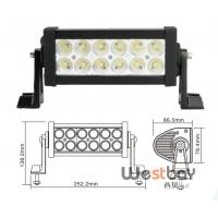 Quality 7.5 36W ip67 offroad driving led light bar,10-30V double rows led working bar lights wholesale