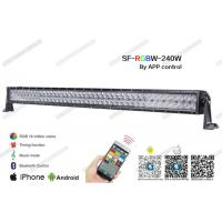 China 41.5 240W Straight RGB LED Light Bar , Flood / Spot / Combo Beam 5D LED Light Bar 3w on sale