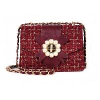 China Women Shoulder Strap Bags PU Leather Material Multi Colors With 3D Flowers 16010W on sale