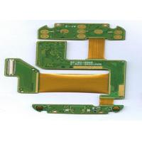 Quality FR4 + PI 4 Layer Rigid Flexible PCB ENIG Finish Green Masking White Lengend wholesale