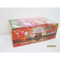 Quality Happy Birthday Candle Marshmallow Candy / 11g /4 Pcs In One Bag Twist Cotton Candy wholesale