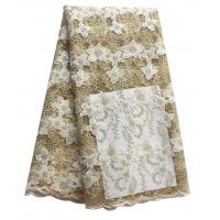 China Simple and elegent white african lucky flower lace wholesale stock best beautiful lace fabric for wedding on sale