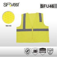 China 5 point breakwear safety workwear 100% polyester mesh reflective safety vest with 3M reflective tape and zipper front on sale
