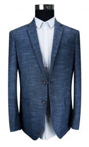 China Fashion Navy Mel Mens Black Blazer Jacket Worsted Fabrics Breathable Business on sale