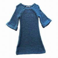 Quality Ladies knitted dress, made of 100% acrylic wholesale
