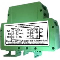 Quality WAYJUN 3000VDC isolation Potentiometer to DC Signal Transmitter signal converter green DIN35 CE approved wholesale
