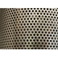 Quality Sliver Galvanized Perforated Metal Mesh ISO9001 Approval 2mm Round Hole wholesale