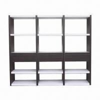 Quality MDF bookcase with high-glossy paint and walnut wholesale