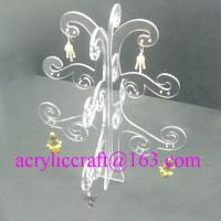 Cheap Elegant Transparent Tree Shape Acrylic Display Rack For Earring for sale
