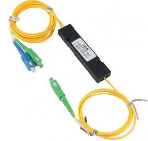 China Fiber Optic Cable Adapter WDM FWDM Splitter 1X2 Coupler RoHS CE Certification on sale