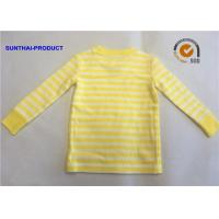 Quality Size  Customized Plain Baby Clothes Stripe Long Sleeve Kids Pajama Tops wholesale