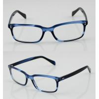 China Fashion Acetate Mens Eyeglasses Frames, Blue Handmade Acetate Eyewear Frames on sale