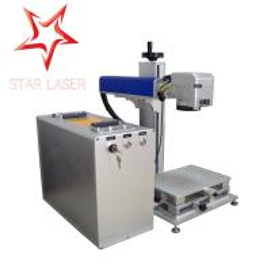 Quality Blue 10W Fiber Laser Marking Machine, Pipe Laser Marking Engraving Machine wholesale