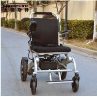 Quality Light Weight Aluminum Alloy Electric Folding Wheelchair For Travelling wholesale