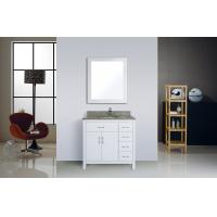 Cheap Square Marble Top Traditional Bathroom Vanities 32 Inches Soft Closer With for sale