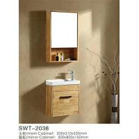 Quality 20 Inches Burlywood Bathroom Furniture Vanities Hang Cabinet With 1 Door wholesale