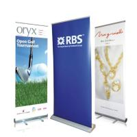 Quality Waterproof Roll Up Banner Display Dye Sublimation Full Color Printing Reusable wholesale