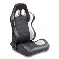 Quality Sparco Style Leather Racing Sport Auto Car Seats / Black And White Racing Seats wholesale