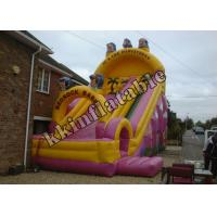 Quality Backyard Commercial Inflatable Dry Slide / Inflatable Slide Jumper wholesale
