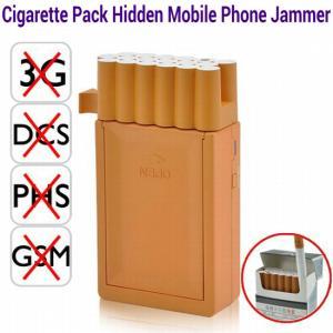 Quality Pocket Cigarette Box Pack Hidden Cell Phone Jammer GSM dcs phs 3G Signal Blocker Isolator wholesale