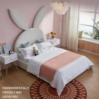 China Modern Design Affordable Children Bedroom Furniture Girl Kid Bed Rabbit Headboard Cute Bed on sale