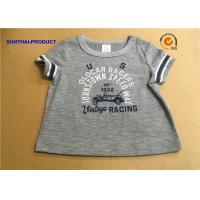 Quality Overall Size Baby Boy Short Sleeve T Shirt , Heather Gray Kids Short Sleeve Tops wholesale