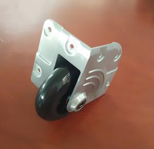 Diecast corner castor with 75mm polyurethane wheel. MS-W8675