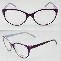 Quality Purple Lightweight Oval Acetate Eyeglasses Frames For Women, Men To Protect Eyes wholesale