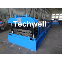 Quality Roof Wall Panel Cold Roll Forming Machine / Roof Wall Cladding Roll Forming Machine With PLC Control System wholesale