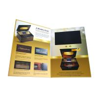 Quality Smart Video Brochure HD Screen Inserted A5 Portrait Folder Size 350gsm Paper Material wholesale