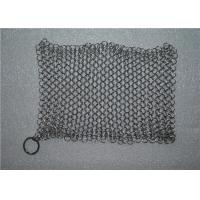 Quality Kitchen Cleaning Chainmail Scrubber For Cast Iron Cookware , Stainless Steel 316 wholesale