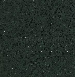 Quality Black Quartz Stone Slab with Bullnose Edge wholesale
