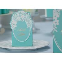 China Blue Color Printed Recycled Paper Cake Boxes For Wedding Cookie Chocolate Packing on sale