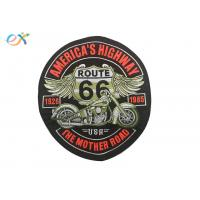 Quality Rectangle Embroidered Motorcycle Patches , Custom Made Patches For Leather Vests wholesale
