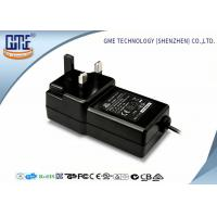 Quality Black Wall Mounted 12V Power Adapter 1.5M Cable 3 Prong Plug With CE Certificates wholesale