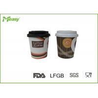 China 7oz Single Wall Hot Handled disposable thermal cups For Hot Beverage on sale