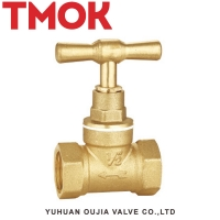 China NPT screwed 2 inch 50mm double internal thread brass stop valve on sale