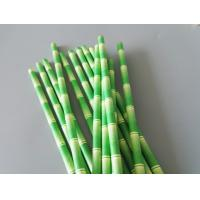 Quality Bamboo Printed Eco Compostable Jumbo Paper Straws , Paper Smoothie Straws wholesale