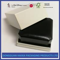 Quality Black Appearance LED Jewelry Packaging Boxes Handmade For Ring / Pendant wholesale