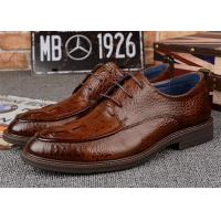 Durable Dark Brown Derby Classic Dress Shoes For Mens Suits OEM Available