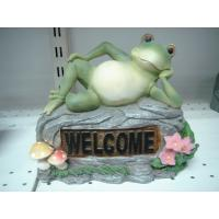 Quality Home Acrylic Epoxy Resin Lying Frog Sculptures and Statues for Garden Ornaments wholesale