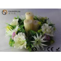 Quality Flickering Flame Led Wax Candle , Advent Wreath Votive Candles Multi Color wholesale