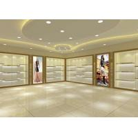Quality Large Capacity Shoe Display Cabinet Wooden Material Decorated With LED Lights wholesale