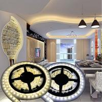 Quality 12V Non-waterproof 5050 LED Strip Light for Home Decoration 5M 300 LEDs Warm/Cool White wholesale