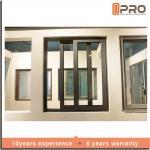 Quality Rainproof Double Glazed Sliding Windows , Aluminium Horizontal Sliding Windows powder coated aluminum sliding window wholesale