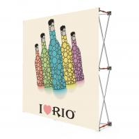 Quality Fabric Portable Pull Up Display Banners , 2 * 2 Roll Up Display Stands wholesale