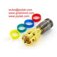 Quality BNC gold plated Coaxial Connector BNC Compression for RG174 coax cable 75ohm connector wholesale