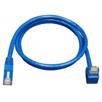 Quality Down Angle Lan Network Cable Gigabit Molded Patch Cord For Print Server wholesale